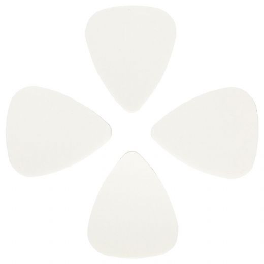 Rubber Tones White Silicon 4 Picks